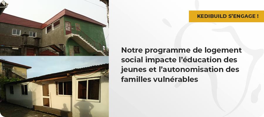 Impact social de notre programme de logement